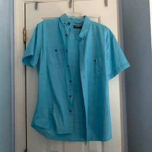 express button up tee